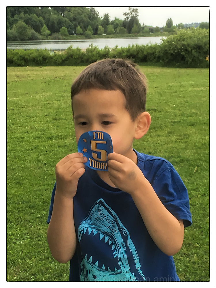 Alexander celebrates his fifth birthday.