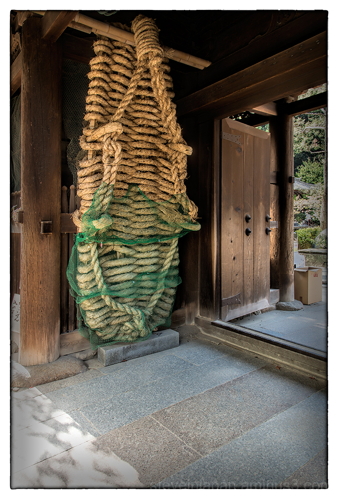 Large sandals at the entrance to Ishite-ji.