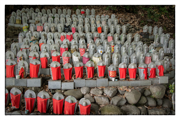 Jizo at Ishite-ji in Matsuyama, Japan.
