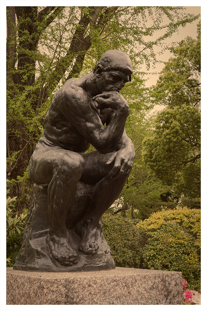 The Thinker, by Rodin, in Ueno, Tokyo.
