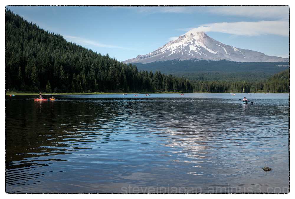 Mount Hood as seen from Trillium Lake.
