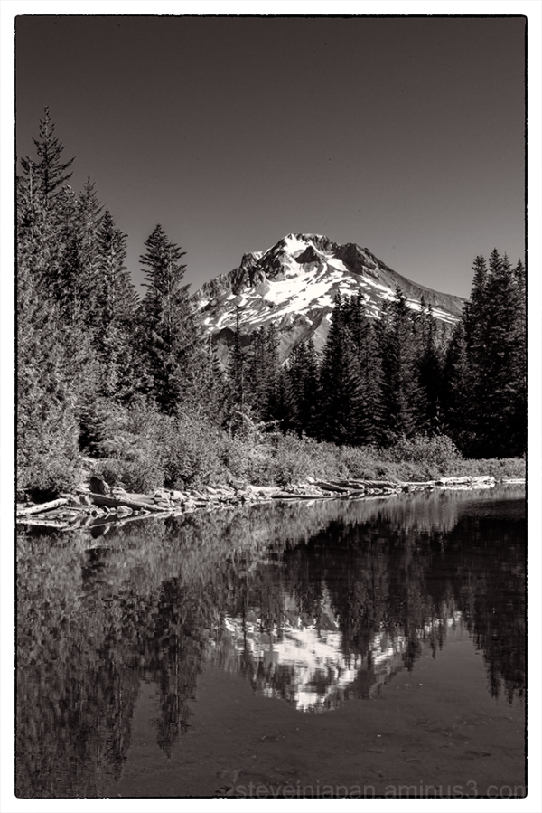 Mount Hood as seen from Mirror Lake.