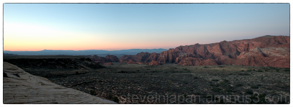 Dawn at Snow Canyon State Park, Utah.