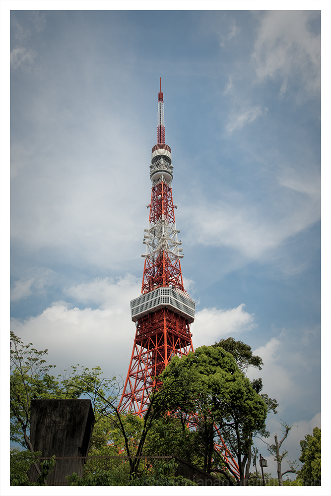 The Tokyo Tower in Tokyo, Japan.