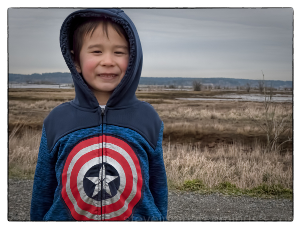 Captain America at Nisqually Wildlife Refuge.