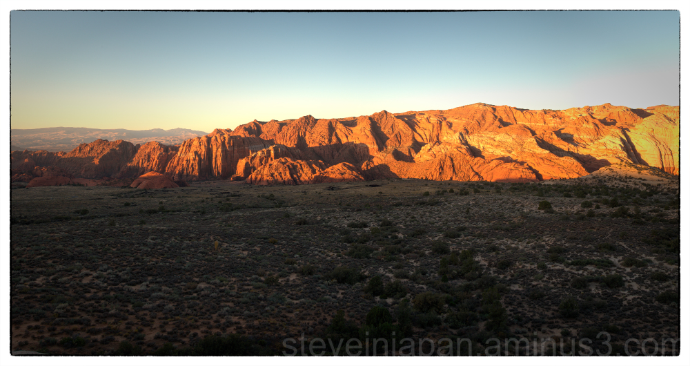 Sunrise at Snow Canyon State Park, Utah.