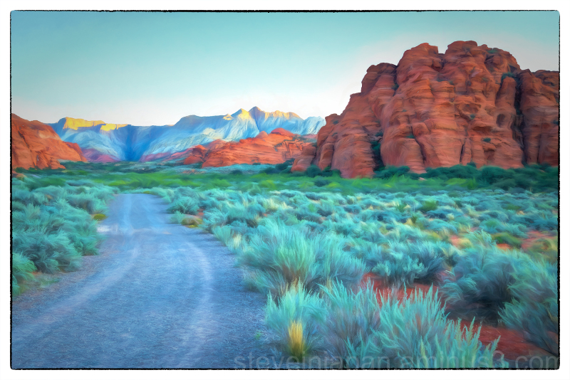 West Canyon Road in Snow Canyon State Park, Utah.