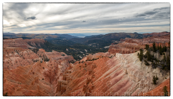 Sunset Overlook at Cedar Breaks NM.