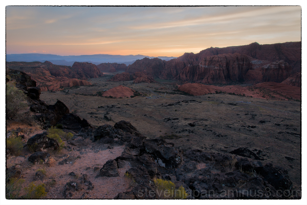 Overlook of Snow Canyon State Park, Utah.