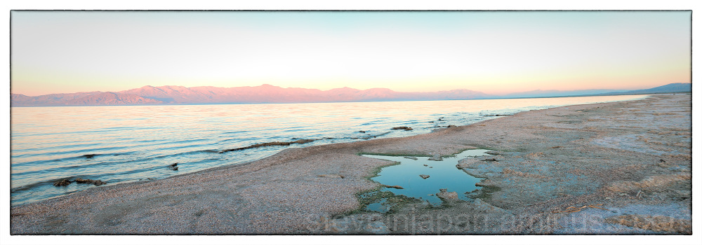 Sunrise at the Salton Sea in California, USA.