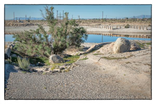 The Salton Sea in California, USA.