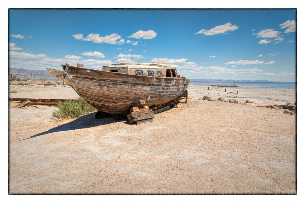 The Salton Sea in California, USA.