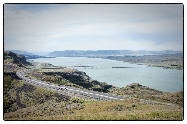 The Vantage Bridge and Columbia River.