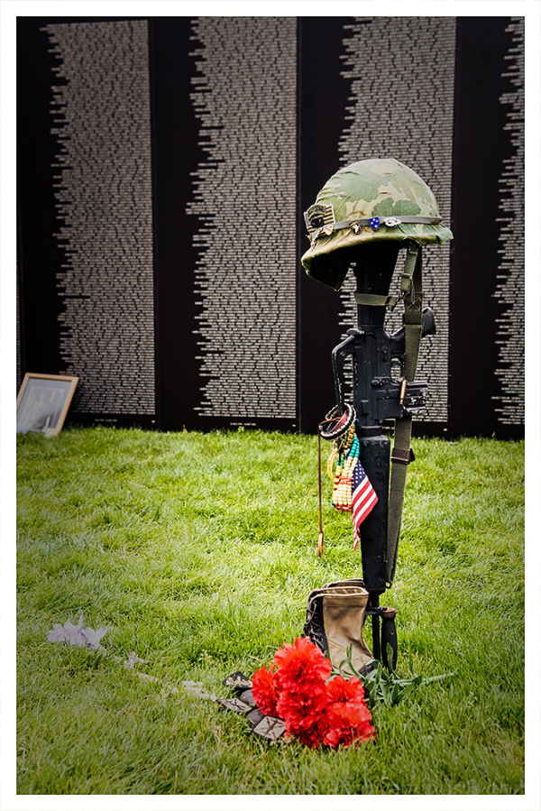 A traveling version of the Vietnam Memorial.