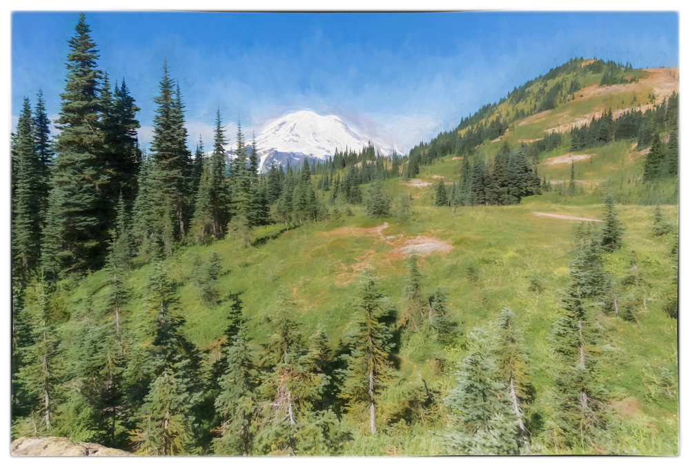 The Naches Peak Loop at Mount Rainier NP.