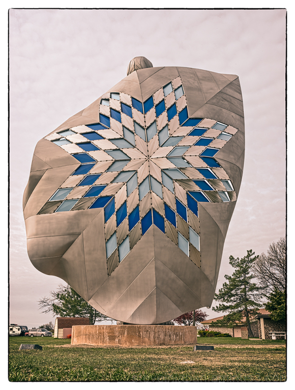 A large Indian woman statue in South Dakota.