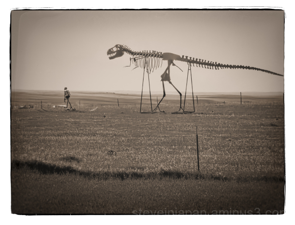 A strange sculpture near Wall, South Dakota.