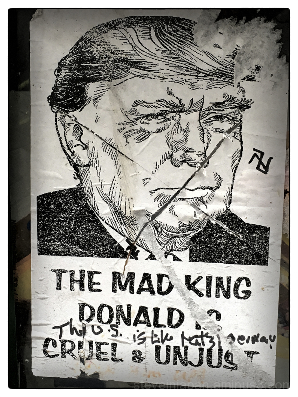 The mad king Donald.