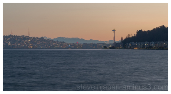 Dawn over the Space Needle.