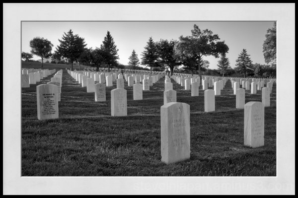 The Santa Fe National Cemetery.