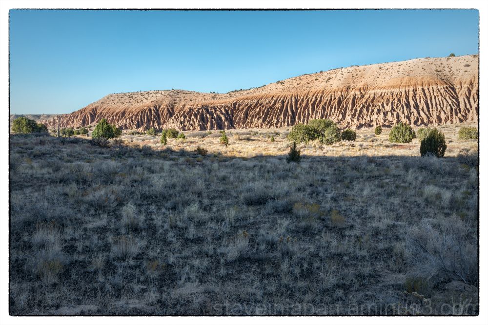 Sunrise at Cathedral Gorge in Nevada.
