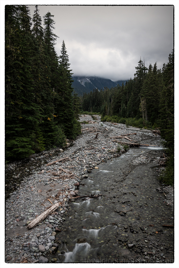 Clouds on East Fork White River at Mt. Rainier.