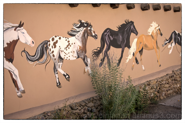Painted ponies in Taos, New Mexico.