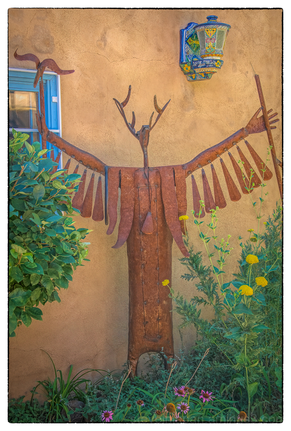 A sculpture in Taos, New Mexico.