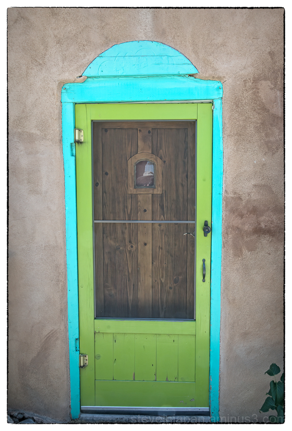 A old door in Taos, New Mexico.