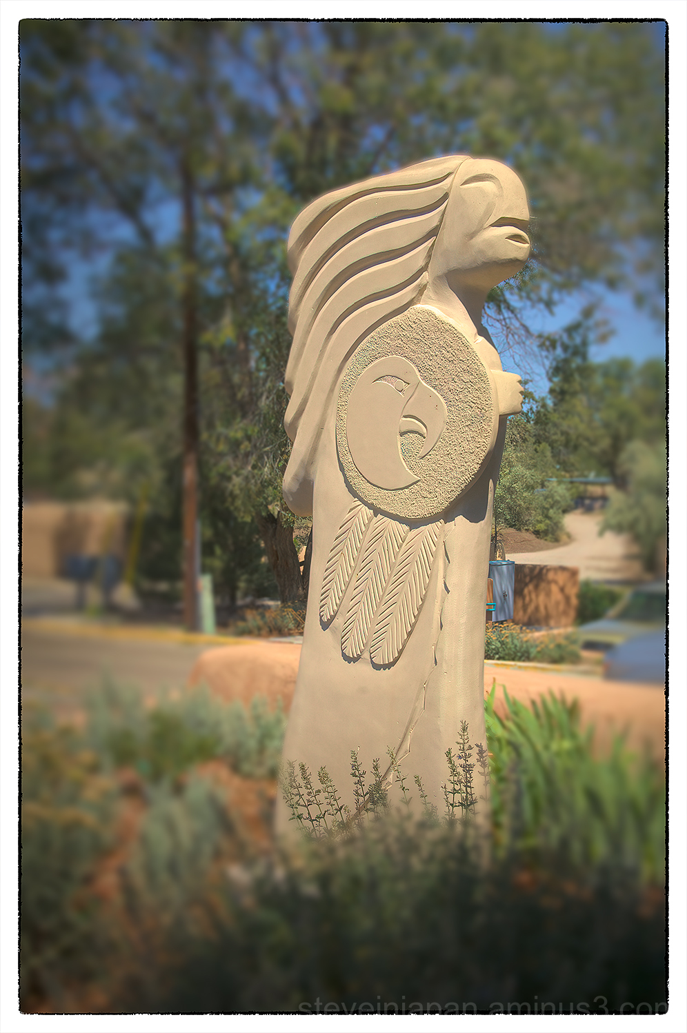 An Indian sculpture in Taos, New Mexico.