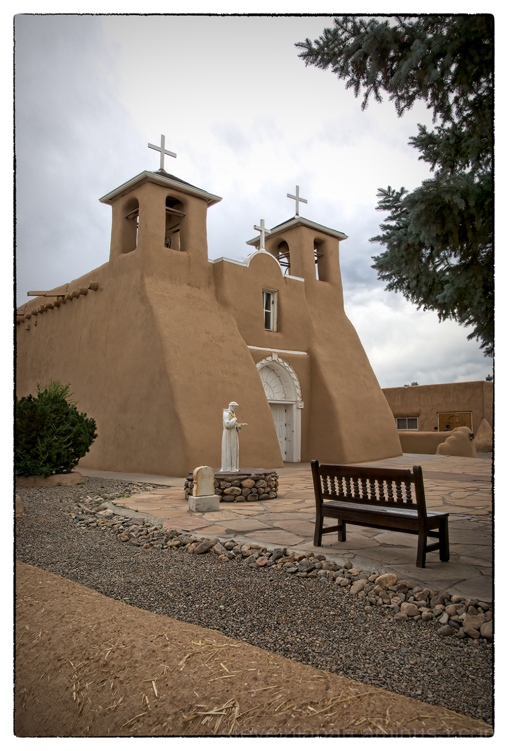 A church in Ranchos de Taos, New Mexico.