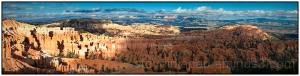 A panorama at Bryce Canyon National Park.