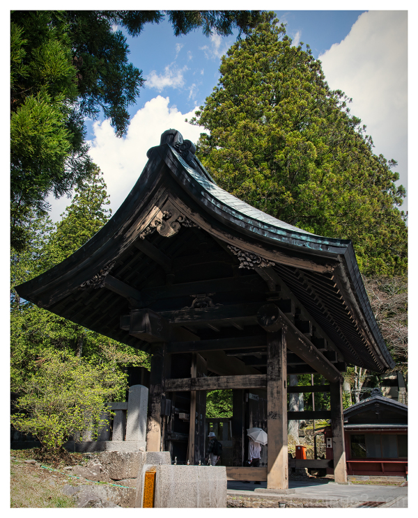 A temple gate in Nikko, Japan.