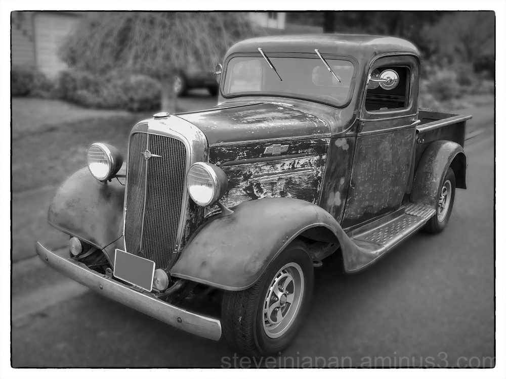 An old Chevrolet pickup seen on a walk.