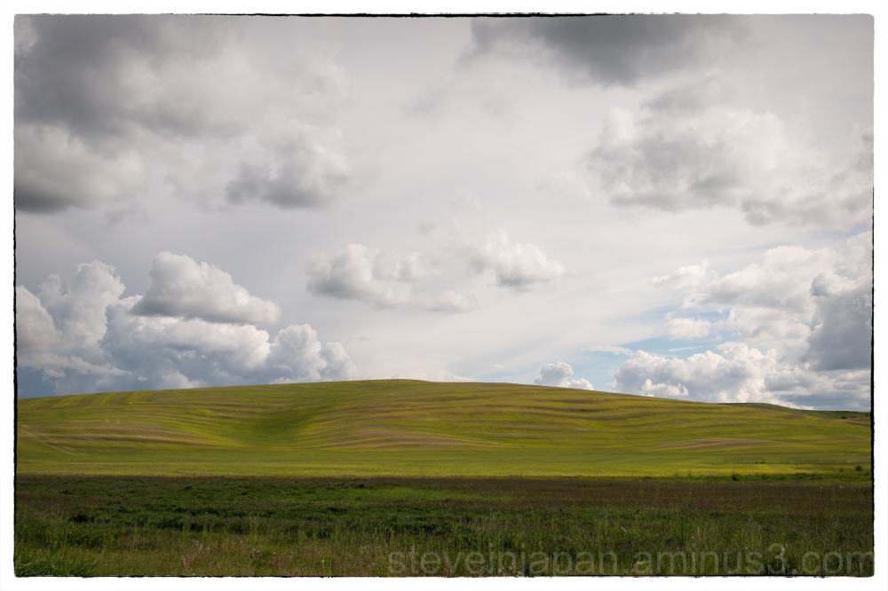 A cloudy sky in the Palouse.