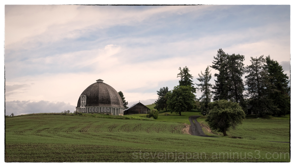 A round barn in the Palouse.