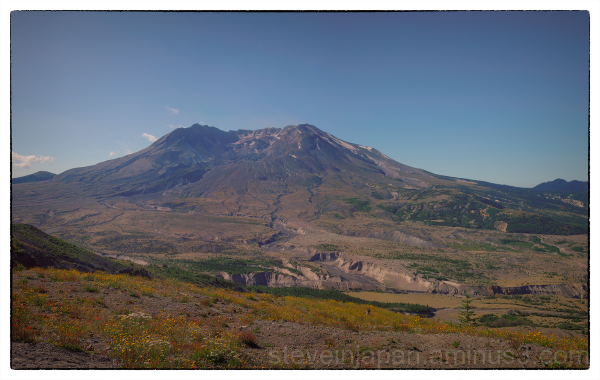 In the Mount Saint Helens blast zone.