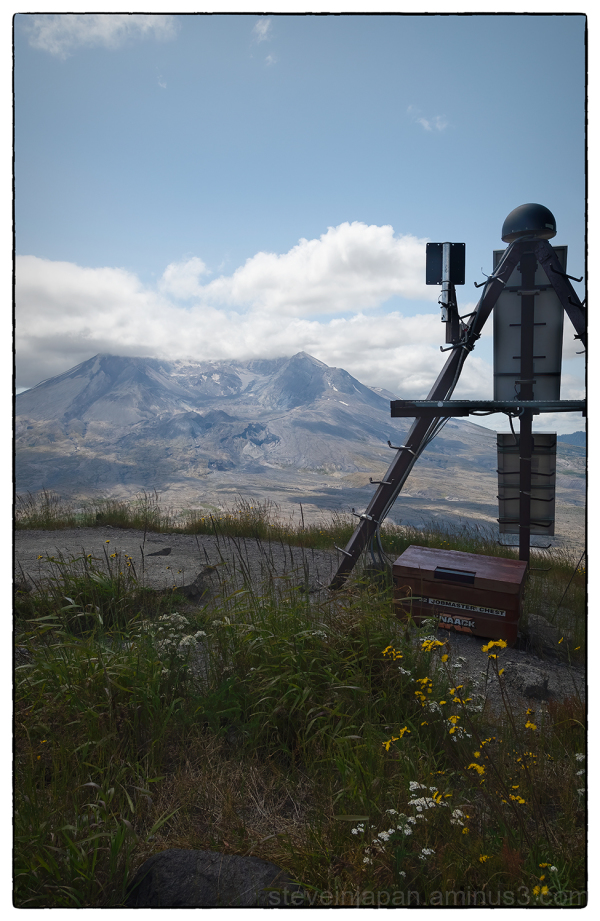 Sensors in the Mount Saint Helens blast zone.