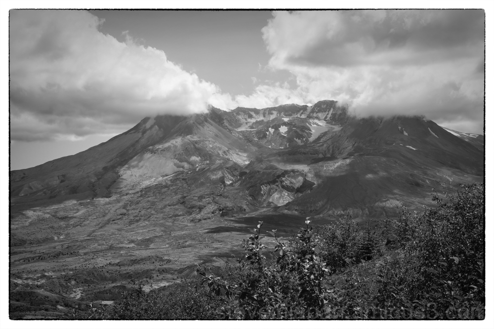 Lava dome in the crater of Mount Saint Helens.