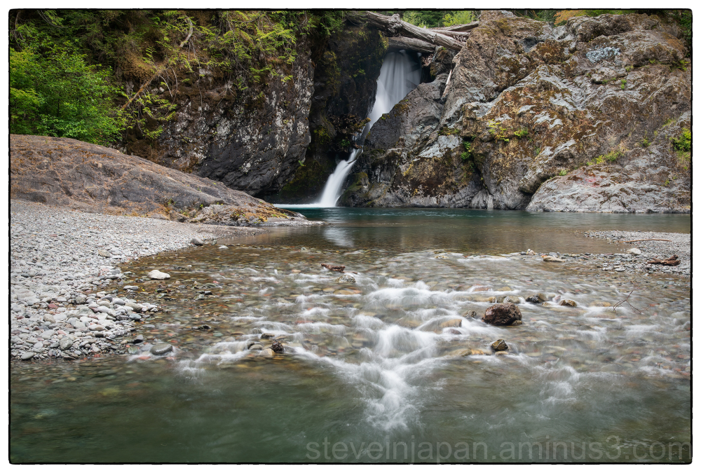 Wynoochee Falls on the Olympic Peninsula in WA.