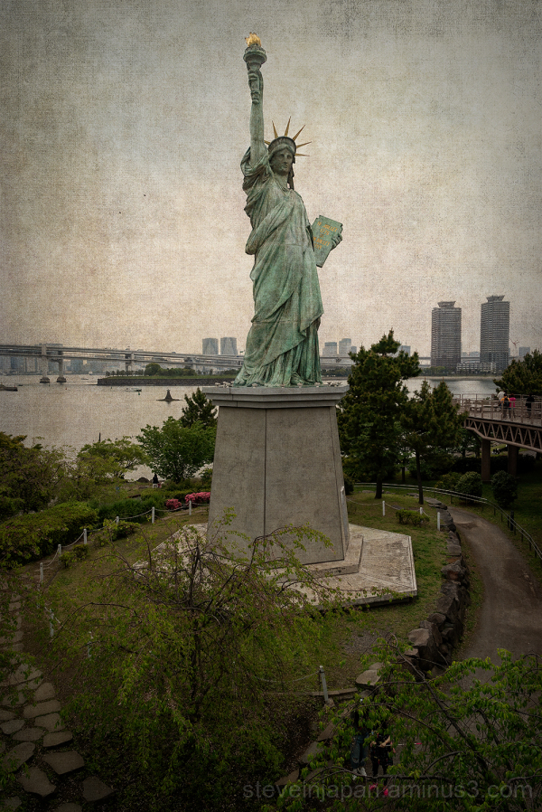 A Statue of Liberty in Tokyo, Japan.