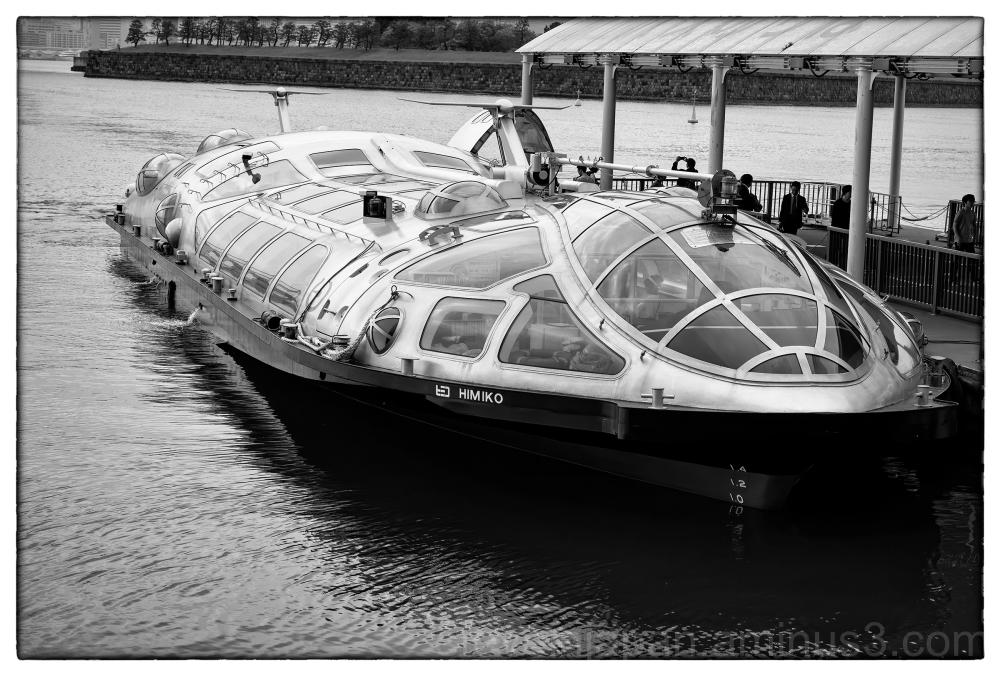 A cruise boat at Odaiba, Tokyo.