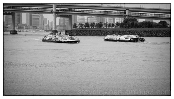 Cruise boats at Odaiba, Tokyo.