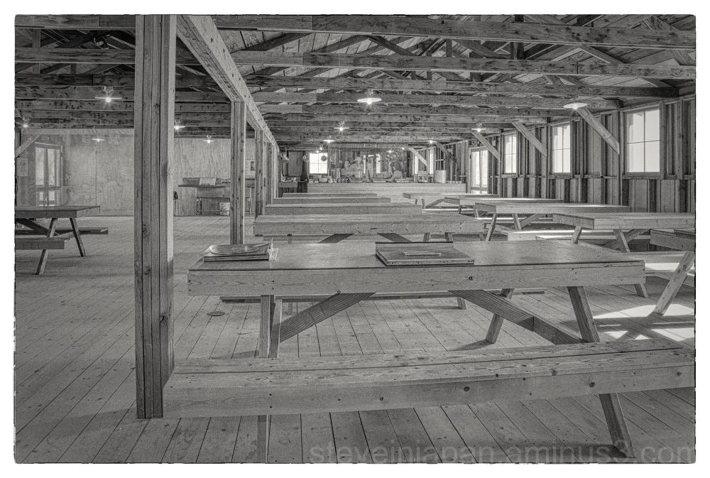 The Manzanar concentration camp in California.