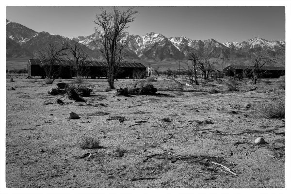 The Manzanar concentration camp in California.
