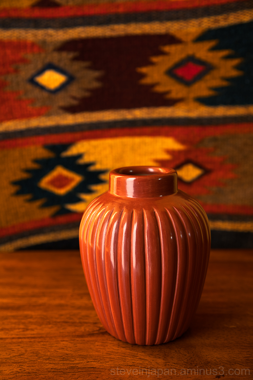 Pottery from Santa Clara Pueblo.