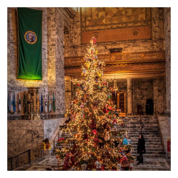 The big tree in the Capitol rotunda.