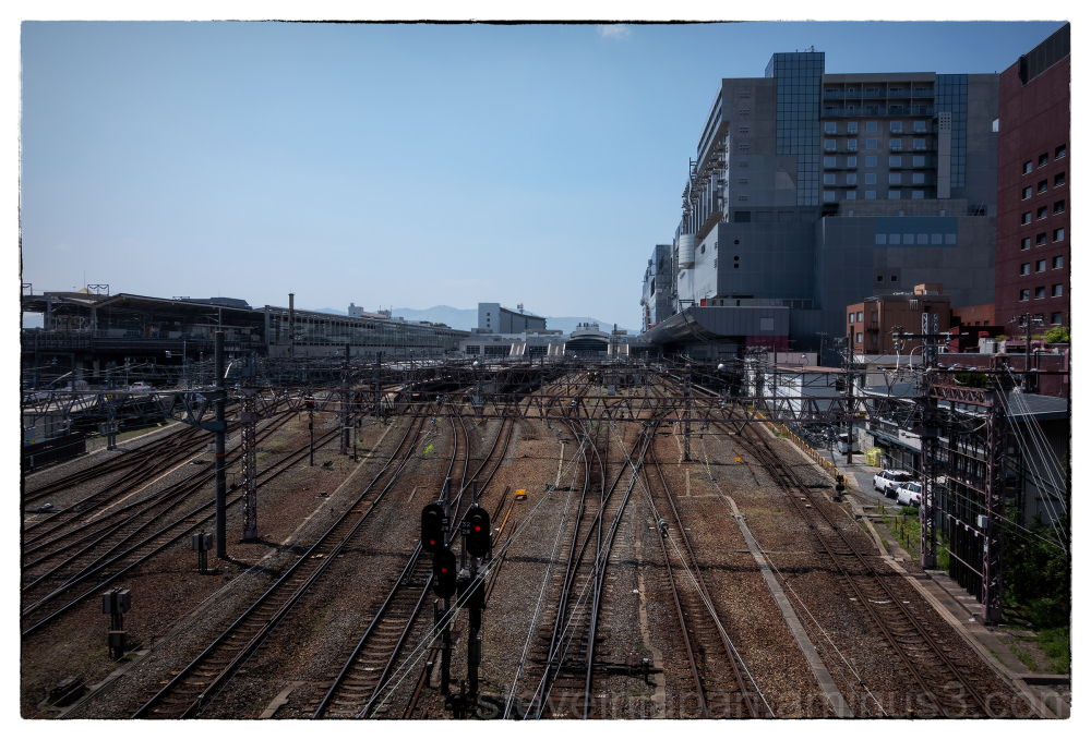 The rails at Kyoto Station.
