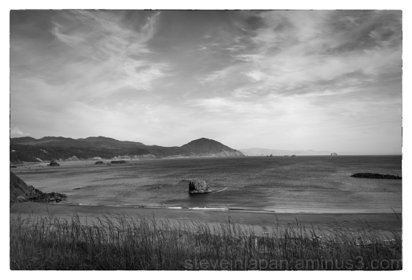 The Pacific coast at Port Orford, Oregon.