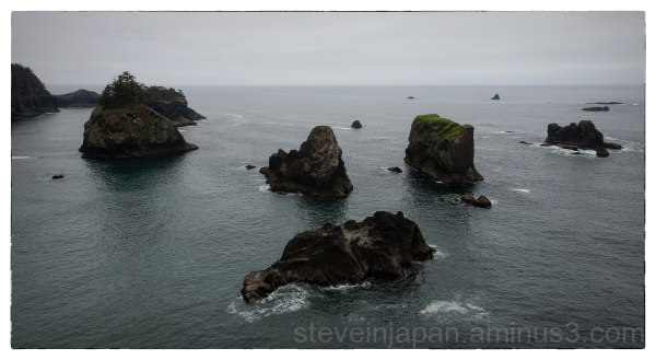 The southern Pacific coast in  Oregon.